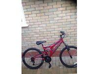 Boys 24 inch bike, red, delta sambre,
