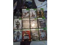 Xbox 360 13 games headset and 250gb hardrive