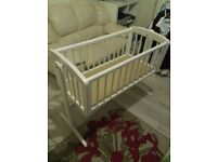 Baby bed cot bed nearly bran new and pushchair