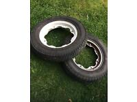 2x Lambretta wheels