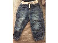 2 pairs boys 9-12 months F&F & Denim co