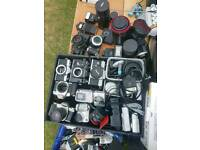 Joblot vintage cameras and accessories