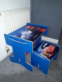 Children's cars table and chair