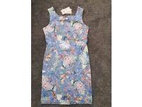 BNWT pale blue Monsoon shift dress, size 14.