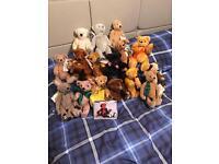 Dean's Teddy Bear collection 16 bears