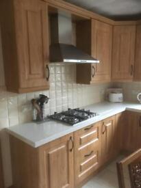 Kitchen oak effect