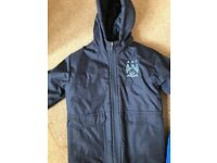Boys Navy Blue Man City Coat