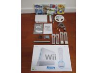 Nintendo Wii Bundle with Original Box- Controller, Nunchuk, Games and Accessories all Included