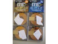 TDK MINI DISCS 74 BLANK SEALED REUSABLE X 2 PLUS 4 OPENED BUT BLANK DISCS