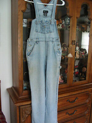 Vintage Overalls & Jumpsuits No Boundaries Bib Overalls Jeans Farm Garden Work Pants Medium 7/9 $10.00 AT vintagedancer.com