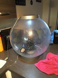 Big BiOrb with Light 60 Litre Silver Coldwater Aquarium + Extras