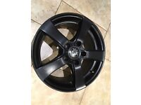 Skoda Seat Audi VW immaculate alloys 5x112 16inch - Unmarked black - Perfect for your winter tyres.