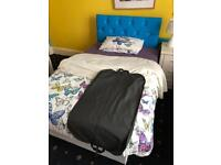 Blue brand new bed and mattress 3/4
