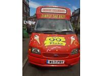 Ice cream van in excellent condition
