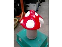 new stone mushroom approx 2 foot tall, any colour