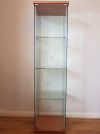 Tall Glass Display Unit/Cabinet