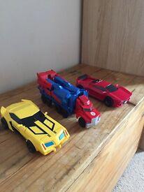 Transformers - 3 step changers bundle - bumblebee, Sideswipe and Optimus Prime