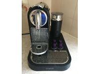 Nespresso Magimix coffee machine and milk frother M190