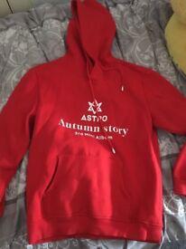 Astro kpop red hoodie