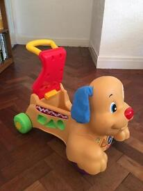 Fisher price toddler sit on dog/ walker