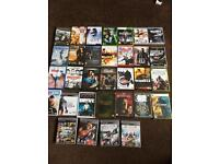 DVDs and PS3 games and xbox360 games