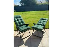 Brand New in Box-ONE Garden Reclining Chairs & Cushions