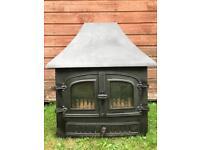 Large Aarrow Hamlet Cast Iron Multi-fuel Wood Burner.