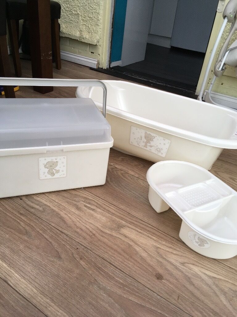 Mothercare matching baby bath, bath box and top and tail bowl | in ...