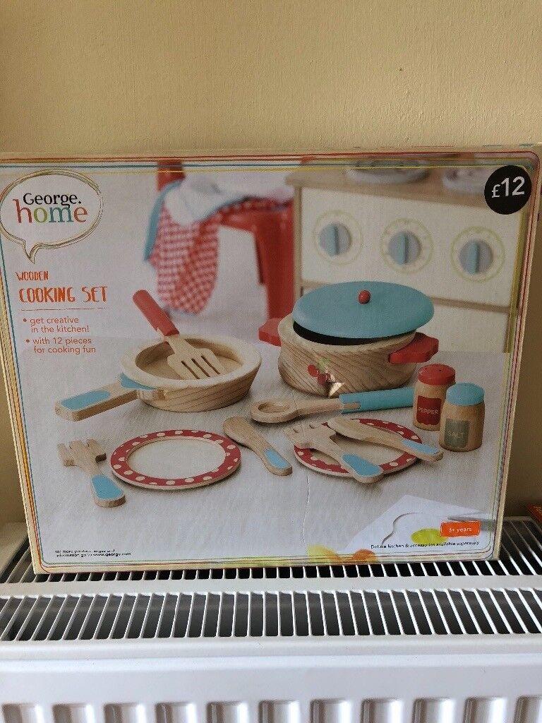 New Wooden Play Cooking Set In Ipswich Suffolk Gumtree