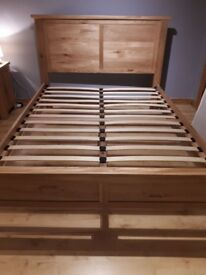 King size wooden frame bed