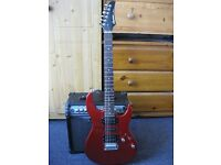 Electric guitar and amp Line 6