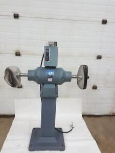 "Baldor  5HP Buffer 3ph 230volt 14"" wheels. Good for Polishing Knives"
