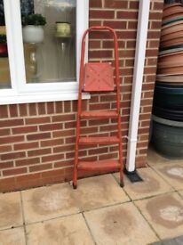 Retro orange step ladder