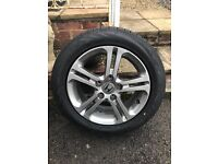 """Honda Civic alloy wheel 16"""" with new tyre excellent condition tyre never been on road fits 8th gen"""