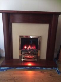 Mahogany Wooden Surround with Fireplace