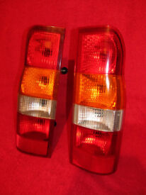 Ford Transit Rear Tail Brake Lights Clusters Pair with Bulb Holders Genuine mk6 2000-2006