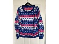 £7 Ladies Christmas Jumper. Size 12/14. Can post or collect from Torquay