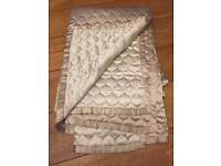 Gorgeous single bed cover/bed footer