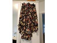AX Paris floral dip them skirt size 12