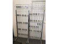2x chrome shop display peg boards