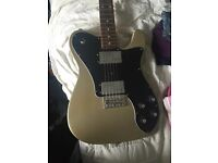 Electric guitar Fender style telecaster custom fat strat headstock