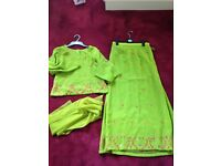 Asian Lengha Suit NEW size 12/14 BARGAIN perfect for a Mehndi - NO SCARF