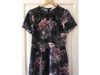 Oasis dress - purple flowers, size 12