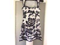 KAREN MILLEN TWO PIECE/DRESS Black &a white size 8