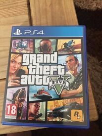 Grand Theft Auto 5 for PS4. Excellent condition. Only used a few times. GTA5 GTAV