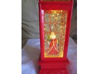 Father Christmas light up and glitter telephone box