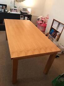 John Lewis Oak Dining table 180cm x 90cm