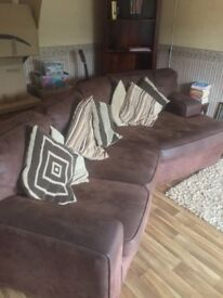 Corner sofa and single chair £95