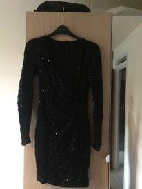 New look black sequin dress