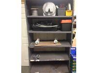2 x Metal Commercial Shelving Rack / Cupboard